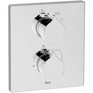 Element zewnętrzny termostatycznej baterii prysznicowej do łączenia z ROCABOX Roca Insignia chrom A5A2C3AC00