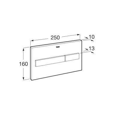 Zdjęcie PL7 – przycisk 2-funkcyjny Roca Stelaże 25×16 cm biały mat / szkło połysk A890088309