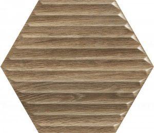 Paradyż Woodskin Wood Heksagon Struktura B Ściana  19,8 x 17,1 cm