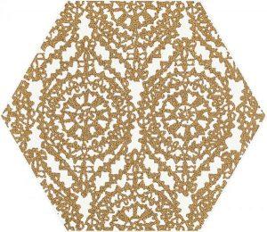 Paradyż Shiny Lines Gold Heksagon Inserto A 19,8 x 17,1 cm