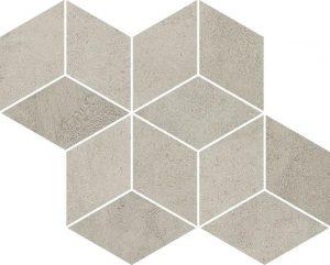 Paradyż Pure City Grys Mozaika Prasowana Romb Hexagon 20,4 x 23,8 cm