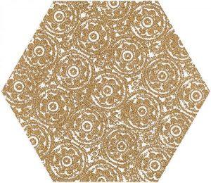 Paradyż Shiny Lines Gold Heksagon Inserto F 19,8 x 17,1 cm