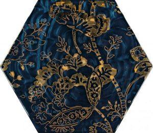 Paradyż Urban Colours Blue Inserto Szklane Heksagon C 19,8 x 17,1 cm