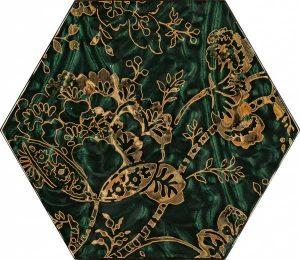Paradyż Urban Colours Green Inserto Szklane Heksagon C 19,8 x 17,1 cm