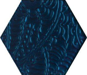 Paradyż Urban Colours Blue Inserto Szklane Heksagon 19,8 x 17,1 cm