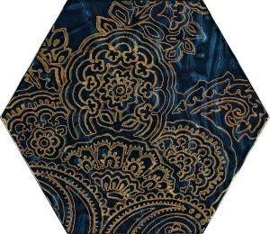 Paradyż Urban Colours Blue Inserto Szklane Heksagon B 19,8 x 17,1 cm