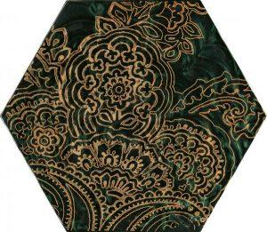 Paradyż Urban Colours Green Inserto Szklane Heksagon B 19,8 x 17,1 cm