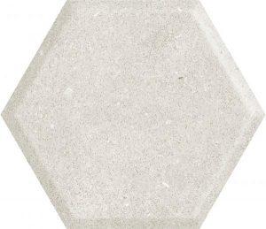 Paradyż Woodskin Grys Heksagon Struktura A Ściana 19,8 x 17,1 cm