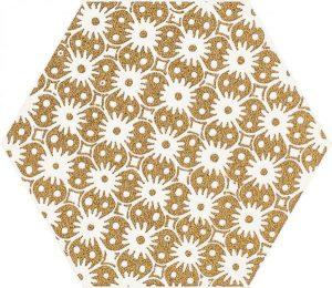 Paradyż Shiny Lines Gold Heksagon Inserto D 19,8 x 17,1 cm