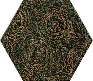 Paradyż Urban Colours Green Inserto Szklane Heksagon A 19,8 x 17,1 cm