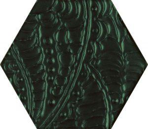 Paradyż Urban Colours Green Inserto Szklane Heksagon 19,8 x 17,1 cm