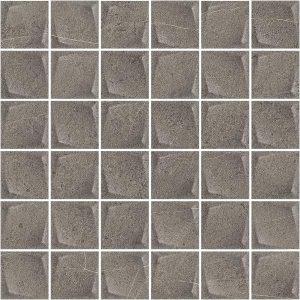 Paradyż Minimal Stone Grafit Mozaika Prasowana K.4,8 x 4,8  29,8 x 29,8 cm