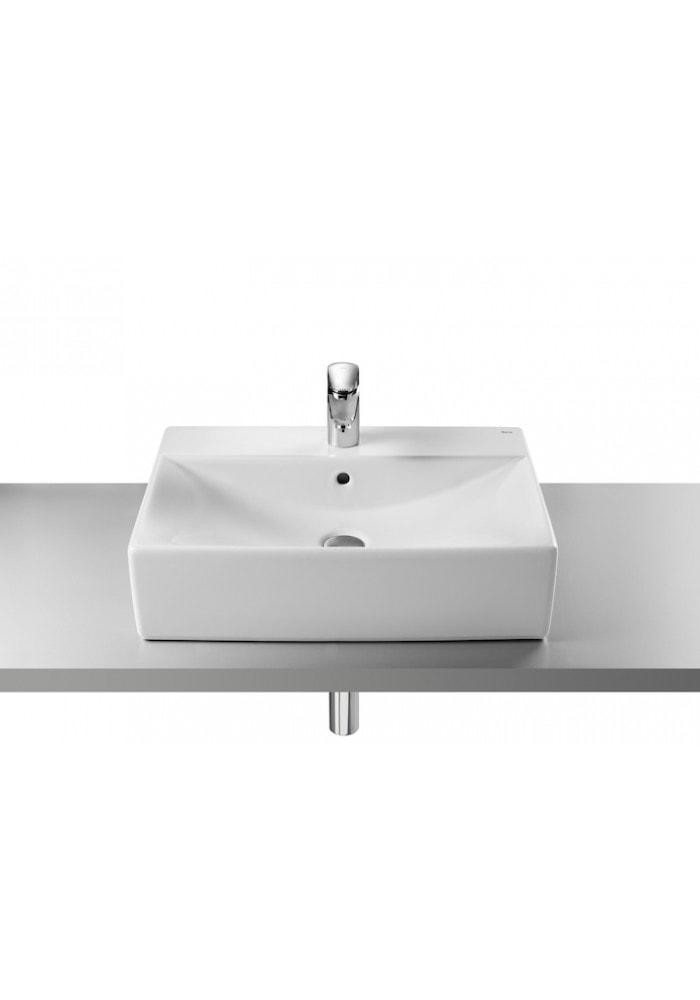 Umywalka nablatowa (szkliwiony tył) Maxi Clean Roca Diverta 60x43 cm, biała A32711G00M