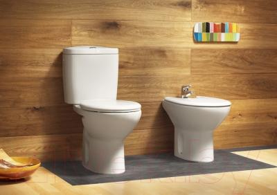 Zdjęcie Deska WC wolnoopadająca (zawiasy metalowe) SUPRALIT ®  Roca Victoria 44×36 cm A801B6200B