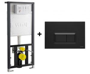 Stelaż podtynkowy Vitra + przycisk Czarny Mat 742-5800-01+740-0611