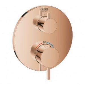 Termostatyczna bateria prysznicowa do obsługi dwóch wyjść wody Grohe Atrio warm sunset 24135DA3