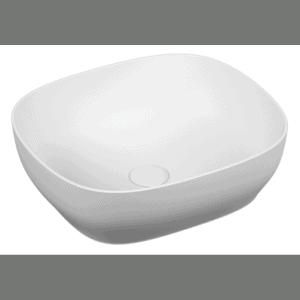 Umywalka nablatowa prostokątna Vitra Outline 47x40 cm biały mat 5994B401-0016