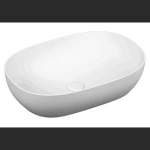 Umywalka nablatowa prostokątna Vitra Outline 59x40,5 cm biały mat 5995B401-0016