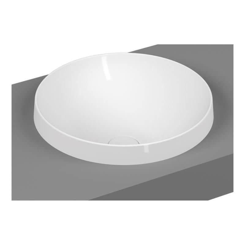 Umywalka nablatowa Vitra Frame 40x40 cm biały mat 5651B401-0016