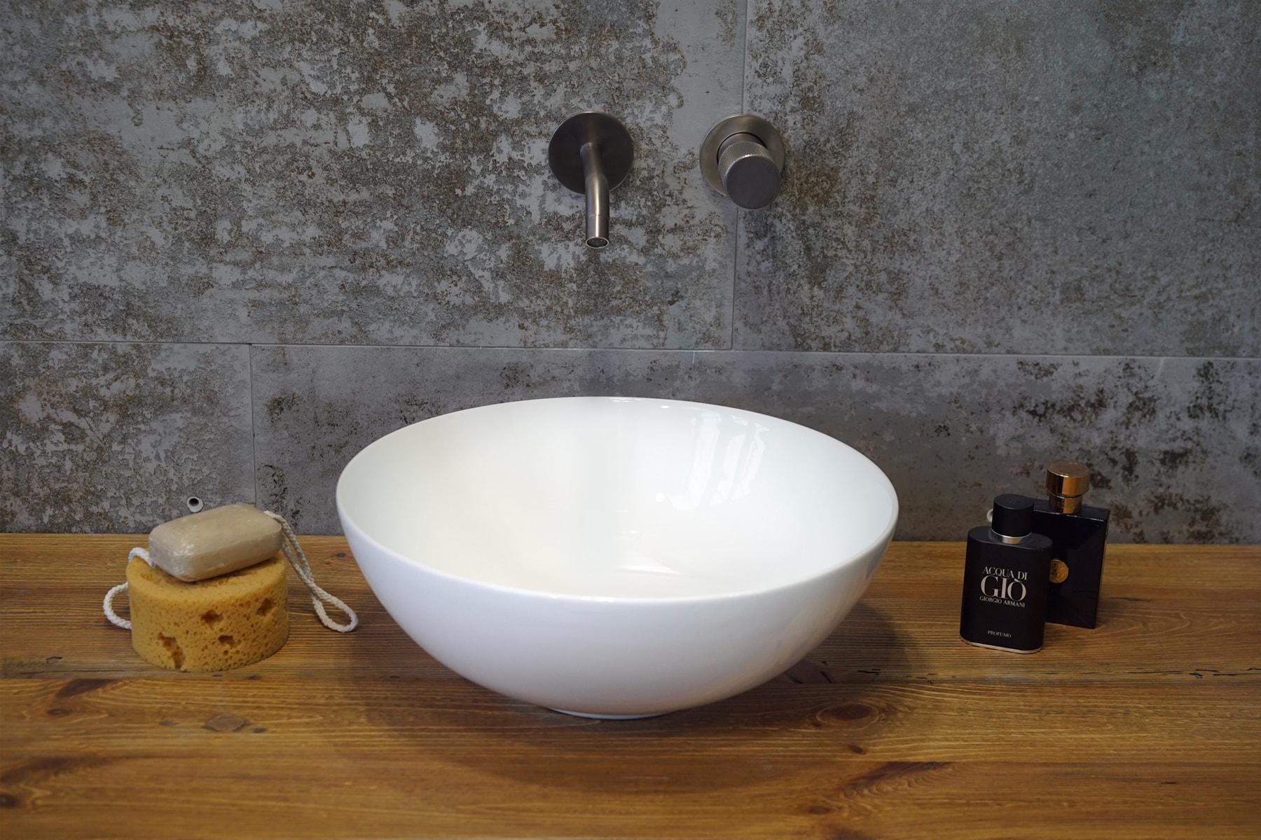 Umywalka nablatowa Aquahome Nelia 40x40x14,5 cm