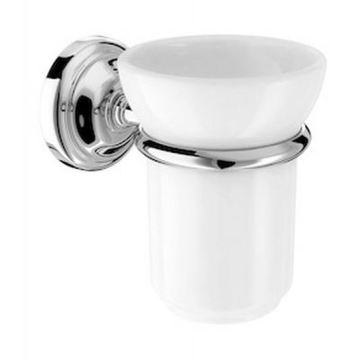 Pojemnik na szczoteczki ścienny szklany Roca Carmen 11,5x10,5 cm A817007001