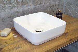 Umywalka nablatowa Aquahome Buena 36x36x12,5 cm
