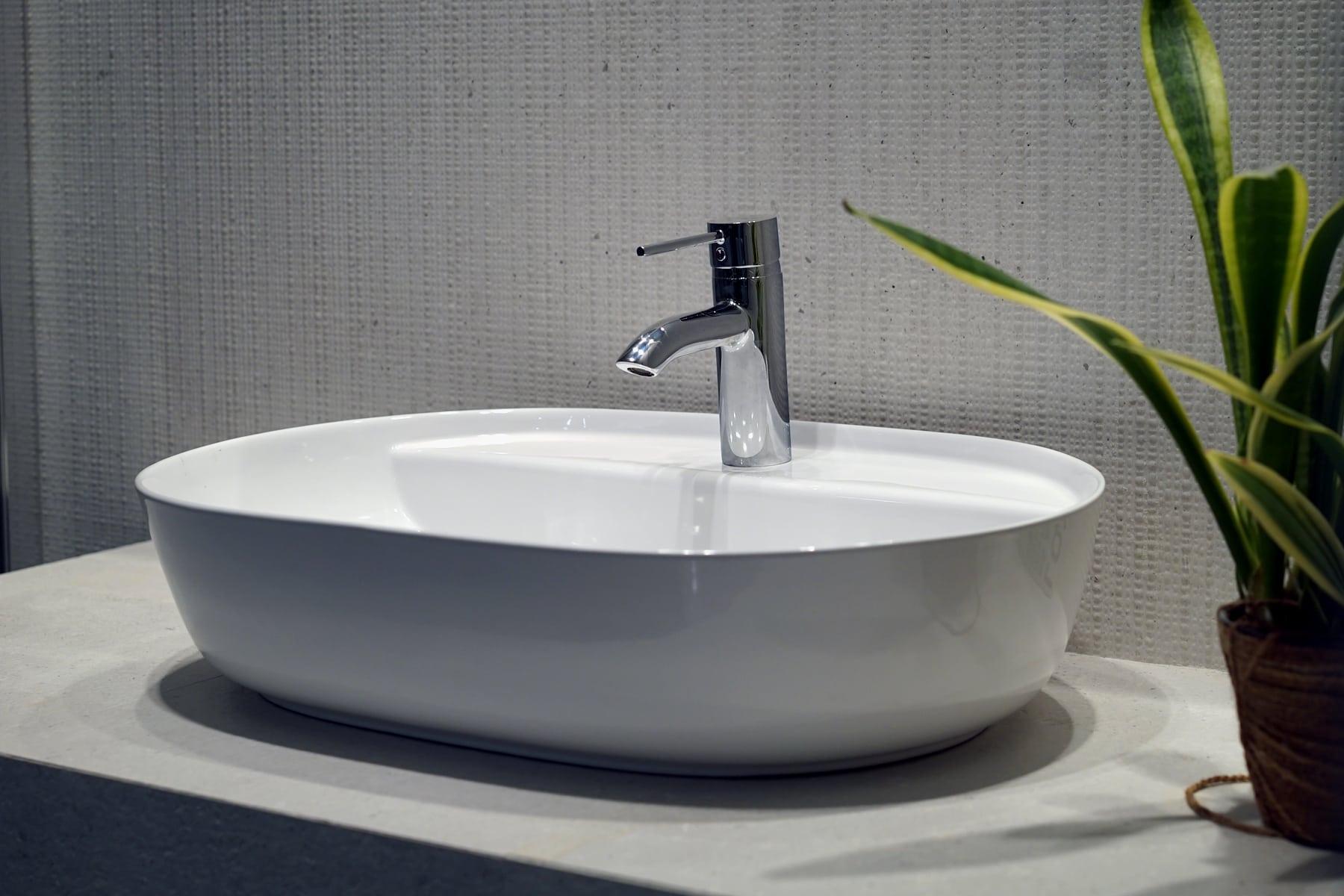 Umywalka nablatowa Aquahome Cambiera 61x40x12 cm