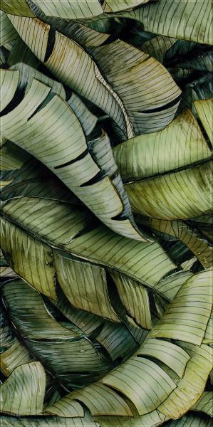 Dekoracja Paradyż Natura Inserto Szklane Leaf B 30x60 cm