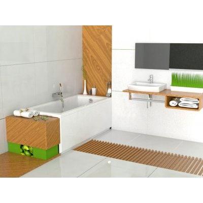 Zdjęcie Prostokątna wanna akrylowa z hydromasażem Smart WaterAir Plus Roca Linea 140×70 cm biały A24T006000