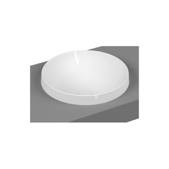 Umywalka nablatowa Vitra Frame 40x40 cm biały połysk 5651B403-0016