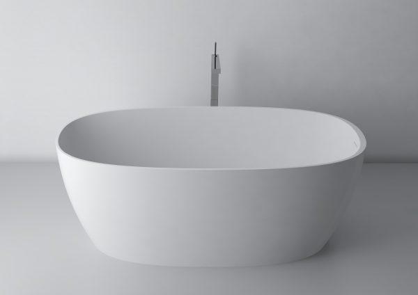 Zdjęcie Wanna wolnostojąca Marmite Cecilia 160 cm z integrowanym przelewem Biała 600181161103