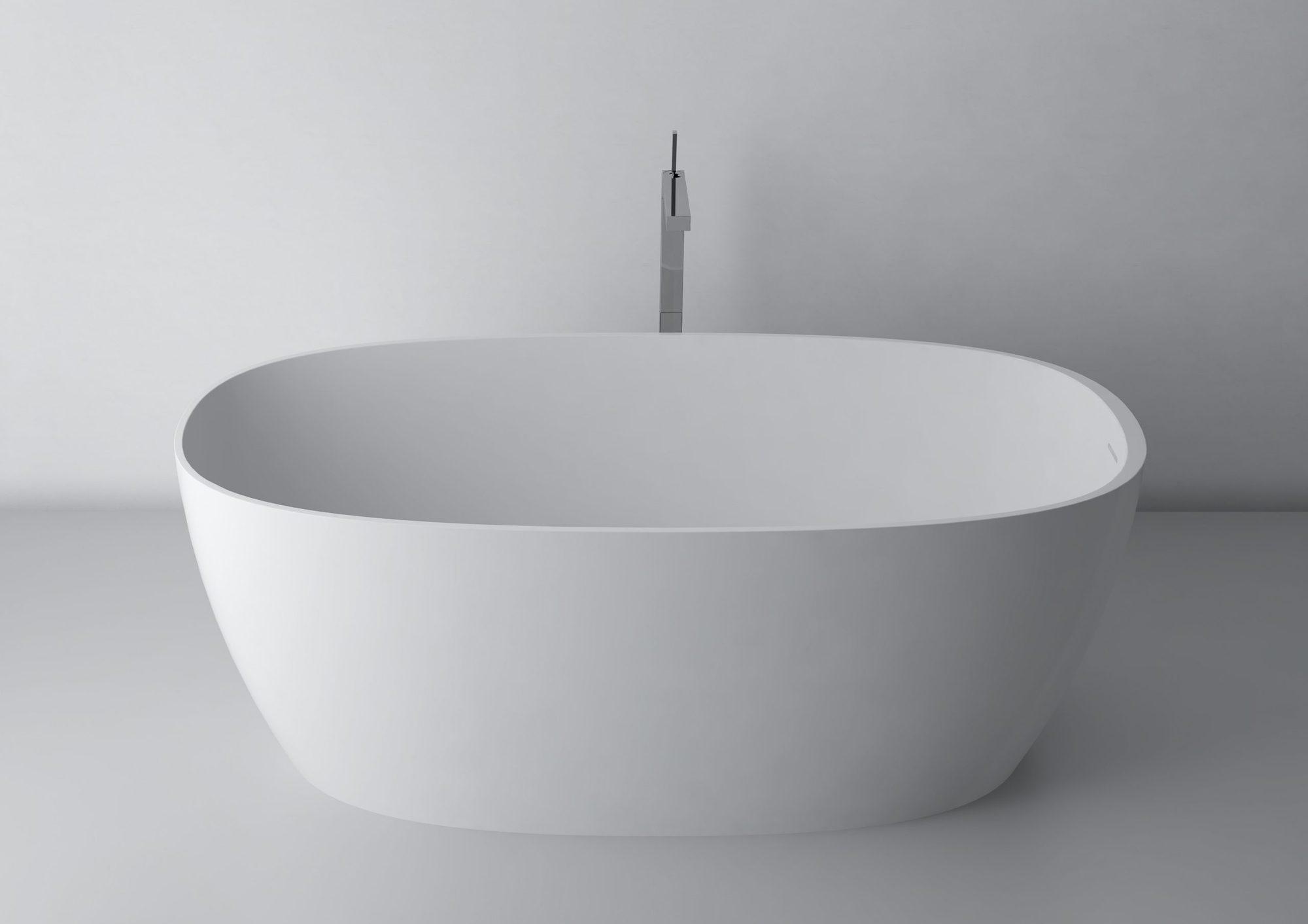 Wanna wolnostojąca Marmite Cecilia 160 cm z integrowanym przelewem Biała 600181161103