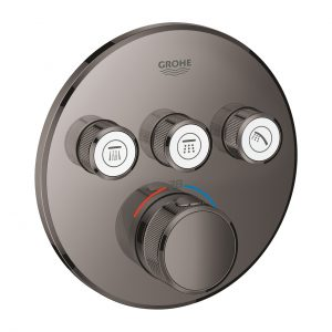 GROHE Grohtherm SmartControl - podtynkowa bateria termostatyczna do obsługi trzech wyjść wody hard graphite 29121A00