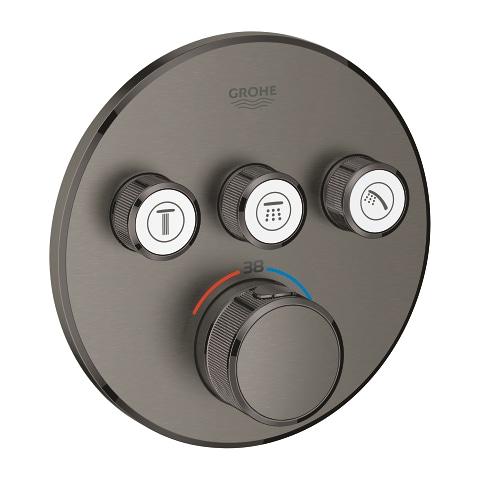 GROHE Grohtherm SmartControl - podtynkowa bateria termostatyczna do obsługi trzech wyjść wody brushed hard graphite 29121AL0