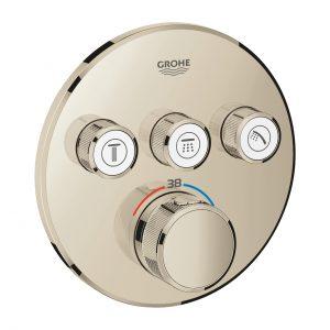 GROHE Grohtherm SmartControl - podtynkowa bateria termostatyczna do obsługi trzech wyjść wody polished nickel 29121BE0