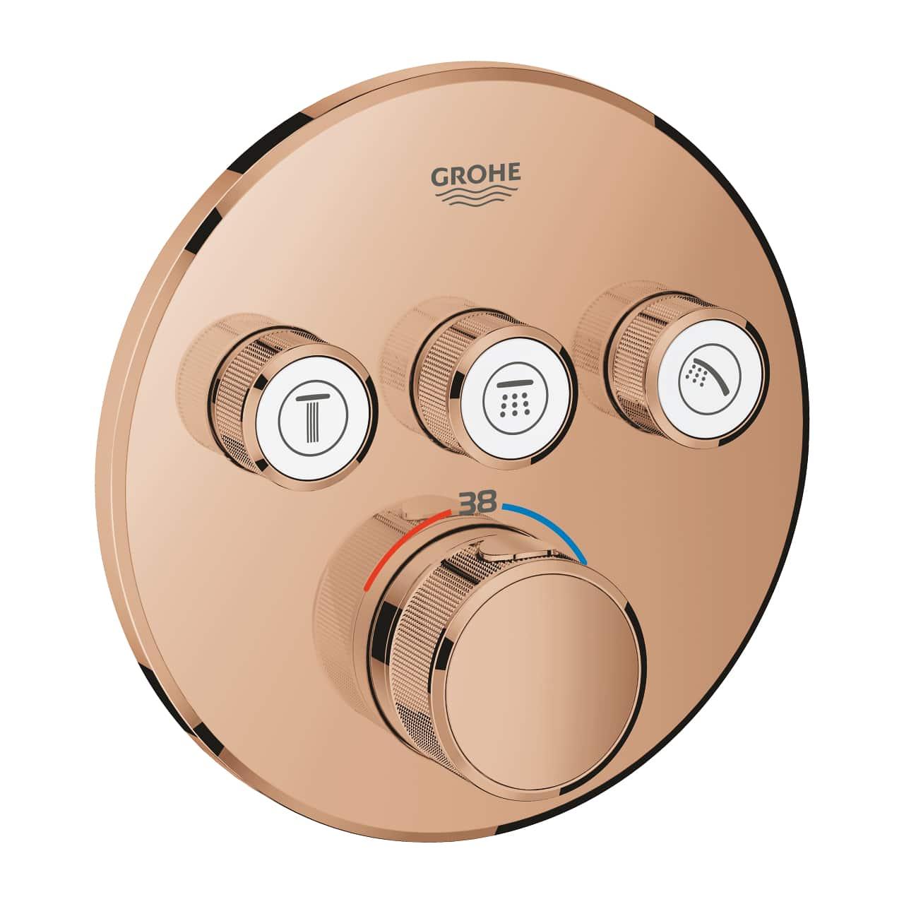 GROHE Grohtherm SmartControl - podtynkowa bateria termostatyczna do obsługi trzech wyjść wody warm sunset 29121DA0