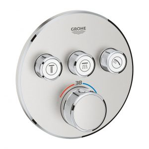 GROHE Grohtherm SmartControl - podtynkowa bateria termostatyczna do obsługi trzech wyjść wody stal nierdzewna 29121DC0