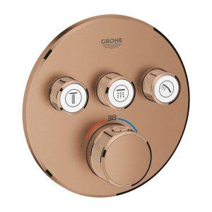 GROHE Grohtherm SmartControl - podtynkowa bateria termostatyczna do obsługi trzech wyjść wody brushed warm sunset 29121DL0