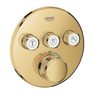 GROHE Grohtherm SmartControl - podtynkowa bateria termostatyczna do obsługi trzech wyjść wody cool sunrise 29121GL0