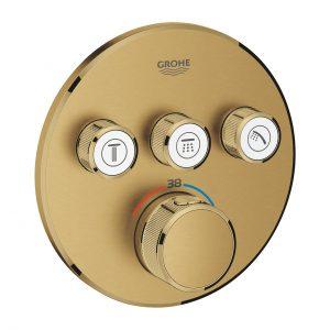 GROHE Grohtherm SmartControl - podtynkowa bateria termostatyczna do obsługi trzech wyjść wody brushed cool sunrise 29121GN0