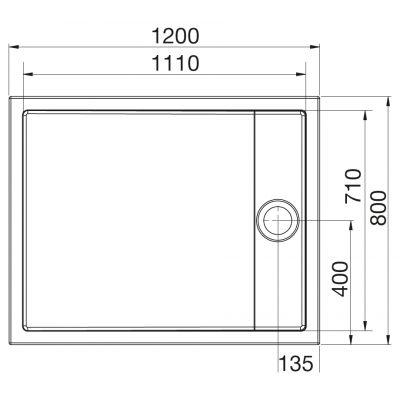 Zdjęcie Brodzik akrylowy flat Roca Granada 120×80 cm biały A276262000
