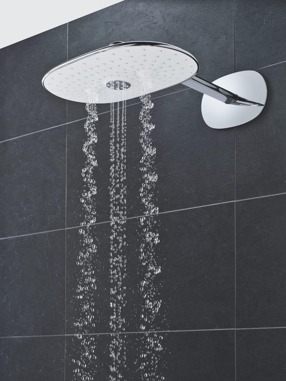 Zdjęcie Deszczownica z ramieniem prysznicowym, 2 strumienie Grohe Rainshower 360 Duo moon white 26254LS0