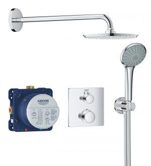 Termostatyczny system prysznicowy do montażu podtynkowego Grohe Grohtherm Rainshower Cosmopolitan 210 34734000