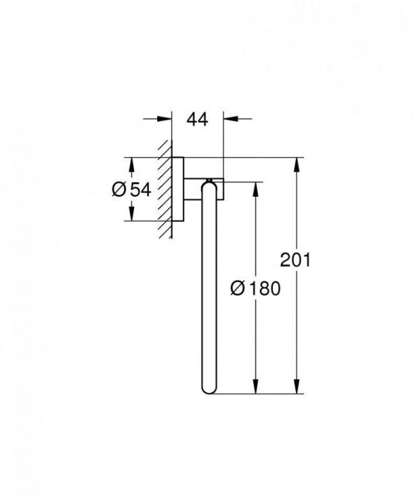 Zdjęcie Wieszak na ręcznik Grohe Essentials hard graphite 40365A01