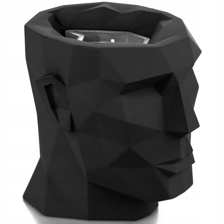 Świeca betonowa wymienna Candellana Lizzio głowa Apollo XL Black Matt 160x170x175 mm