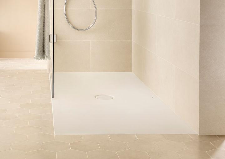 Zdjęcie Brodzik prostokątny ceramiczny Roca Cratos Senceramic 1000 x 700 mm Biały matowy A3740L9620