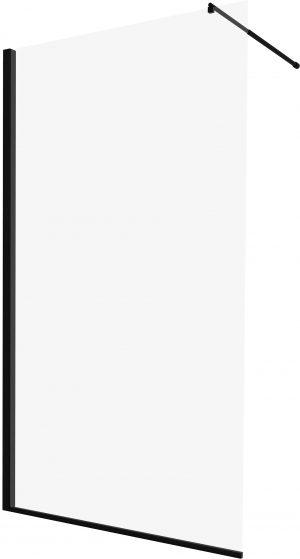 Kabina prysznicowa czarna Deante Abelia Walk-In 120 cm KTA_N31P