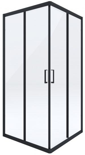 Kabina prysznicowa czarna Deante Funkia kwadratowa 80 cm szkło transparentne KYC_N42K