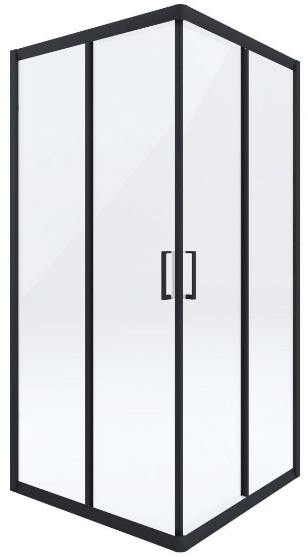 Zdjęcie Kabina prysznicowa czarna Deante Funkia kwadratowa 80 cm szkło transparentne KYC_N42K