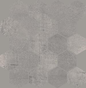 Mozaika Cięta Paradyż Space Grafit Heksagon Mat 25,8x28 cm